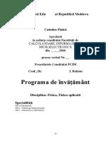 Programa de invatamant