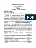 Subiecte Si Bareme Clasa a X-A 2014