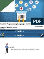 11 Programming Language for Devops Success