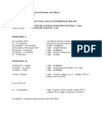 Structura an Universitar 2016-2017_FacultateArhitectura