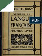 Brunot, Bony, Méthode de Langue Francaise 1