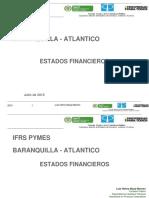 Estados Financieros Barranquilla Julio2015