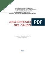 Trabajo Deshidratacion Del Crudo Eduardo Sulbaran