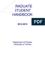 University of Toronto - Department of Physics Graduate Handbook