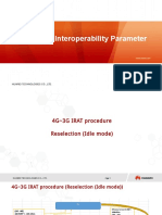 LTE 4G-3G Interoperability Parameter