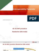 LTE 4G-3G Interoperability Parameter