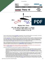 Incorrect Lift Theory