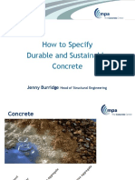 How to Specify Durable Sustainable Concrete April 20122