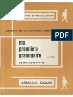 Canac, Jughon, Ma Premiere Grammaire CE 2e Livre