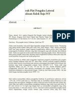 Analisa Pengaruh Plat Pengaku Lateral Terhadap Kekakuan Balok Baja WF