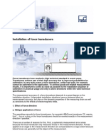 Installation of Force Transducers