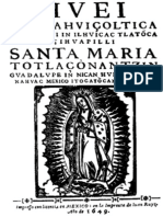 Relato de Las Apariciones de Santa Maria de Guadalupe