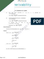 Maths Chap 5 Derivability Notes