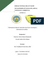 Carbonatación Mineral - Desarrollo de Procesos, Tecnologías y Valoración de Residuos