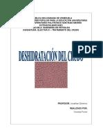 Deshidratación del Crudo
