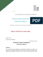 Informe Experimental 7 Propiedaes Coligativas