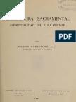 Estrtuctura sacramental espiritualidad del P. la Puente