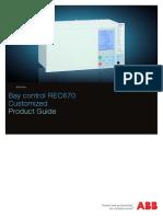 1MRK511231-BEN - En Product Guide REC670 1.2 Customized