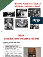 T.1 La Radio Como Indústria Cultural