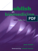 How to Publish in Biomedicine 500 Tips for Success