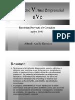 39 Resumen Proyecto Creación UVE May99
