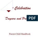 celebration daycare and preschool handbook