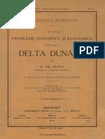 1. Câteva Probleme Ştiinţifice Şi Economice Privitoare La Delta Dunărei