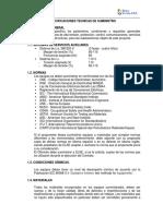 Especificaciones Tecnicas de Suministro v8