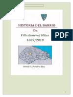 Hitoria Barrio Villa Gral Mitre