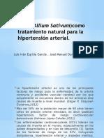 El Ajo(Allium Sativum)Como Tratamiento Natural Para La Hipertensión