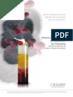 Sistema gravitacional de separación de plaquetas