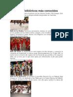Los Bailes Folklóricos Más Conocidos