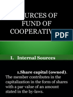 Sources of Fund of Cooperatives