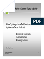 Laser Flash Method to Determine Thermal Conductivity