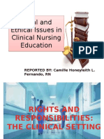 The Clinical Setting (Legal and Ethical Issues in Clinical Nursing Education)