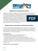 Administracion Publica y Pivada Texto Paralelo