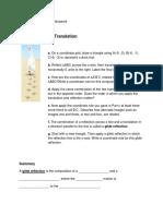 unit 1 transformations classwork
