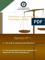 Clase 2. Concepto de Psicología Jurídica
