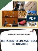 Exposicion Sucesiones Testamento Sin Notario