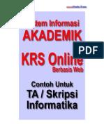 Desain ERD dan Analisis Sistem Informasi Akademik Kampus - KRS Online - Berbasis Web