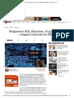 Reaparece SQL Slammer, El Gusano Que Colapsó Internet en 2003