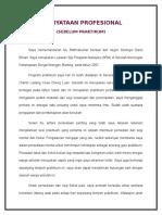 Pernyataan Profesional (Sebelum Praktikum)-Kalai