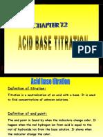 7.4 (b) Acid-base Titration