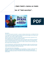 Reply To Zakir Naik on Idol Worship in Hinduism(Sanathana Dharma).