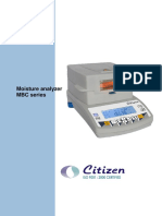 Moisture Analyzer Mbc