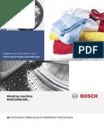 Bosch WAE24461GB Washing Machine Users Manual