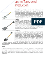 Garden Tools Used in Animal Productions