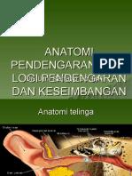 Anatomi Pendengaran Fisiologi Pendengaran Dan Keseimbangan