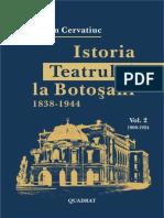 Cervatiuc Stefan Istoria Teatrului La Botosani Vol 2 1900 1924
