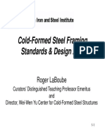 !!! 1 Cold-Formed Steel Framing Standards Design Aids Roger LaBoube